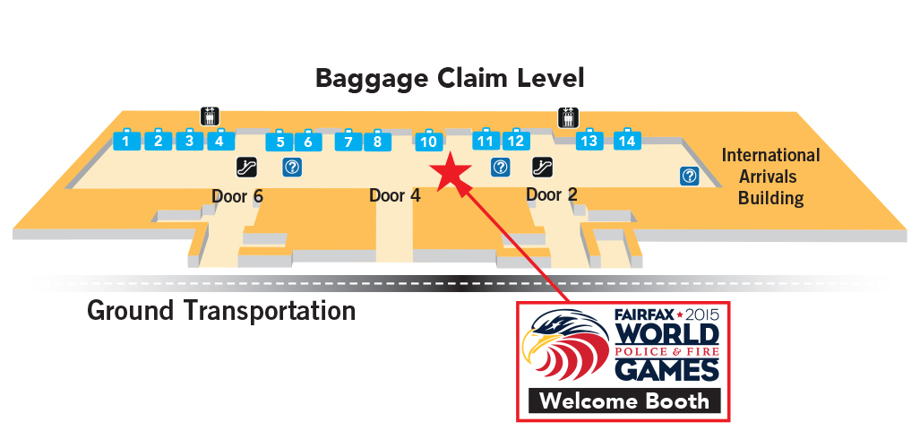 Athlete Arrival Information for IAD Washington Dulles and DCA Ronald