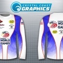 I recently noticed that there are a couple of fishing jerseys that look really awesome and believe that they would be a great addition to the clothing line that the Fairfax World Police and Fire games should sell. The jerseys could be used in the angling sport and many others, I could see myself getting them for motorcross and even more of the sports,  they could be personalize with names and even job titles.  What does everybody think about them. Maybe the company could even add other countries flags to them. Getting excited about going.