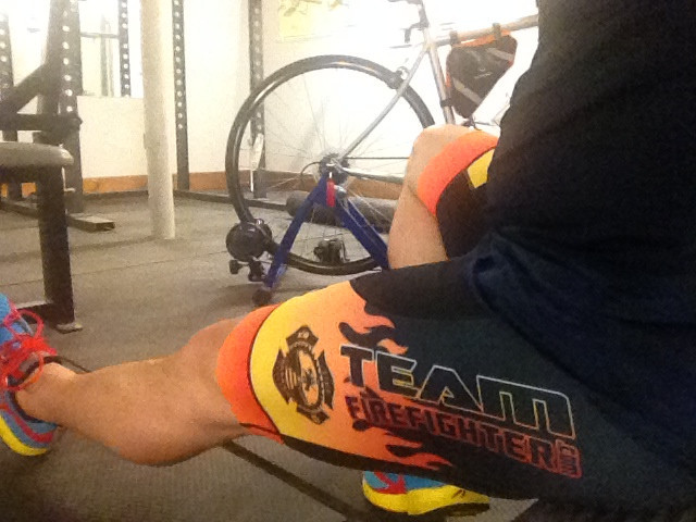 Some Sufferfest training at the firehouse. Team Firefighter is excited to be a part of the games!
