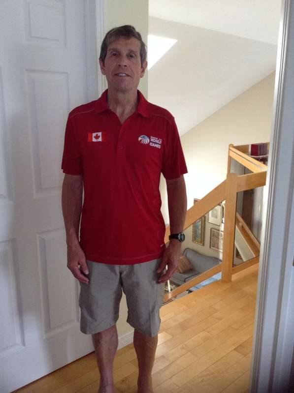 Getting ready for Fairfax Games. I got my Team Canada polo shirt 2weeks ago and training seriously on the long hurdles.