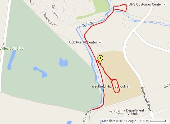 TCA Athletes - This screenshot is the 5K running course for the Toughest Competitor Alive (TCA) at the Fairfax 2015 World Police & Fire Games. You can view details of the course here: http://fairfax2015.com/gps/viewtrack/39-tca-toughest-competitor-alive-5k-running-course