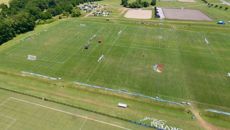 Photos from the sky of the soccer fields at Morven Park