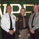 Some of Fairfax County's Finest & Bravest.  Fire Chief Bowers, Sheriff Kincaid, and Police Chief Roessler
