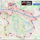 Image map shown here of the Half Marathon Course during the Fairfax 2015 World Police & Fire Games. GPS track log also available at http://fairfax2015.com/gps