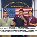 9 Ball medalists at the 2014 United States Police & Fire Championships in San Diego - the sister event to the WPFG.