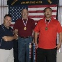 USPFC Treasurer Tony Adler congratulates 9 Ball Winners