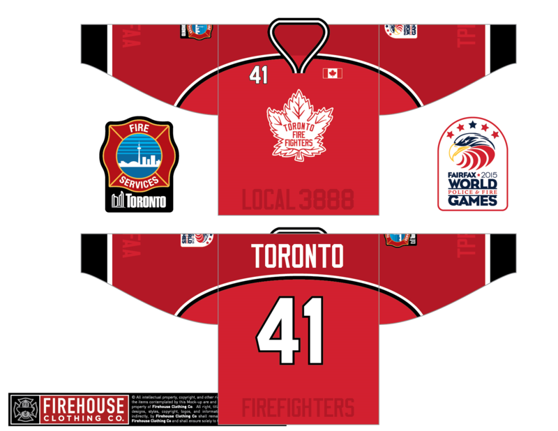 Toronto Fire Novice will be wearing these.  We will also have dept. patches to trade.