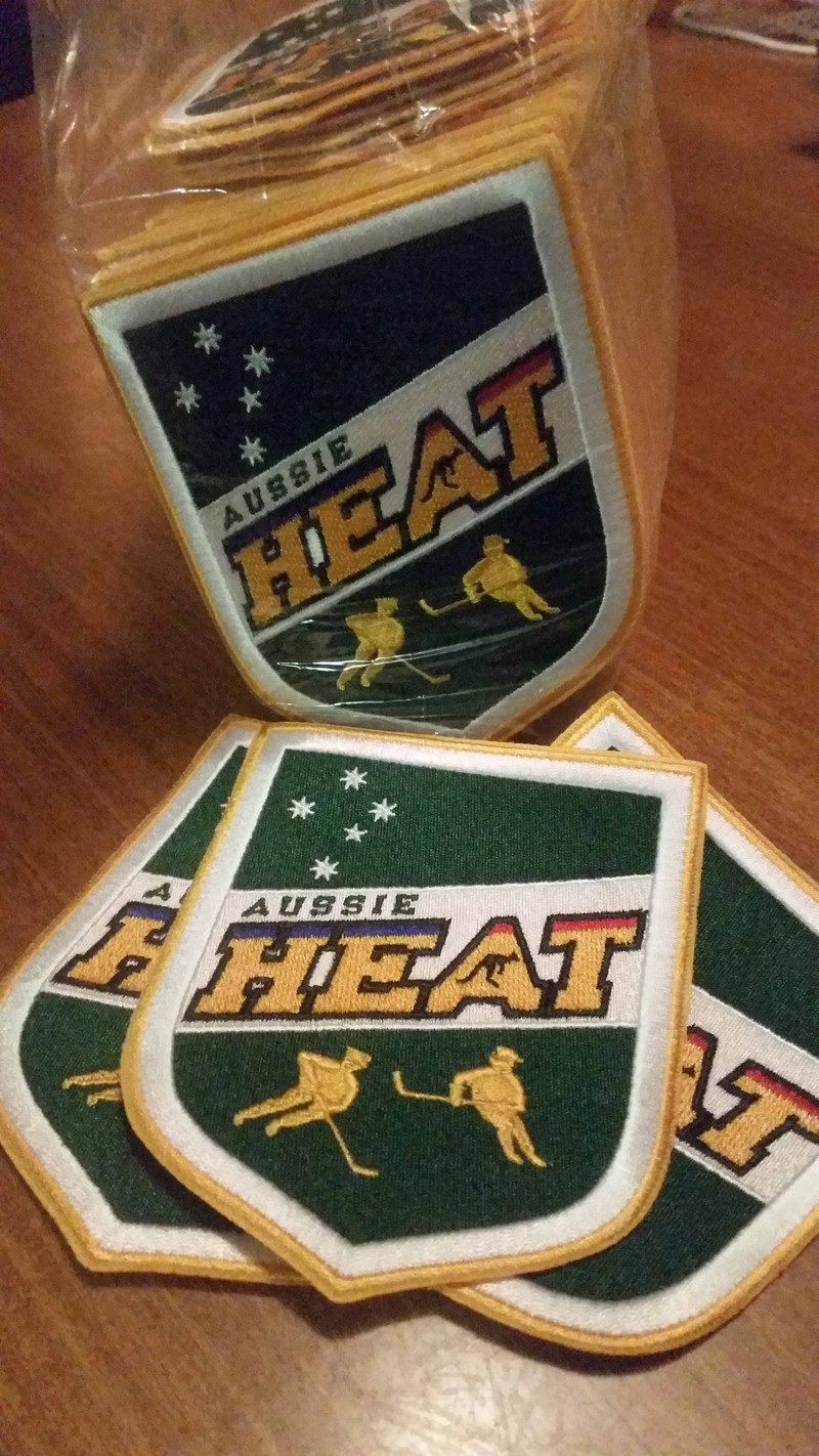 Hello everyone! not long now!<br /><br />The Aussie heat have just received our teams trading patches, they have turned out great! If any other teams want to get some made i can recommend the supplier I used in china. Paypal payment. 10 days turnaround time. Pm Me if you want to know. <br /><br />If not, we are looking forward to trading with the patch fans out there!