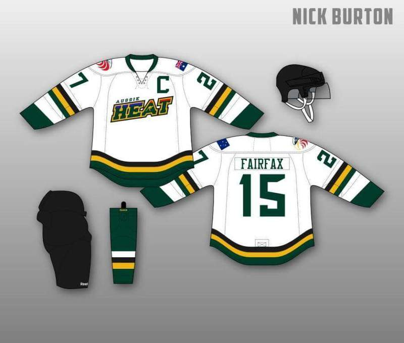 We finally have a jersey design. Come support the Aussie Heat Hockey Team in Fairfax.