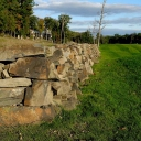 Historic rock walls line several holes on the Robert Trent Jones, II Course