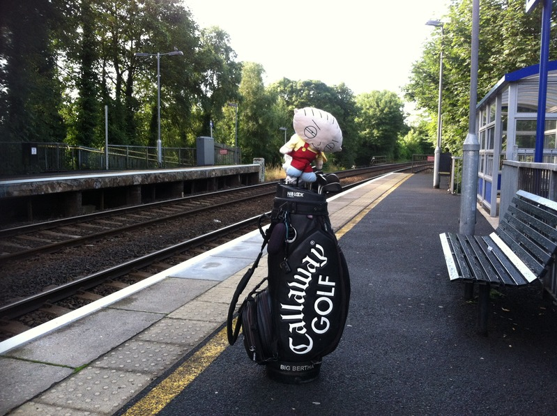 Stewie waiting for the train in Ireland