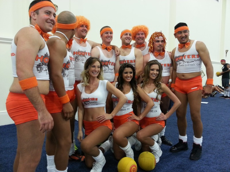 Los Angeles Police Department Dodgeball Team. Any questions?