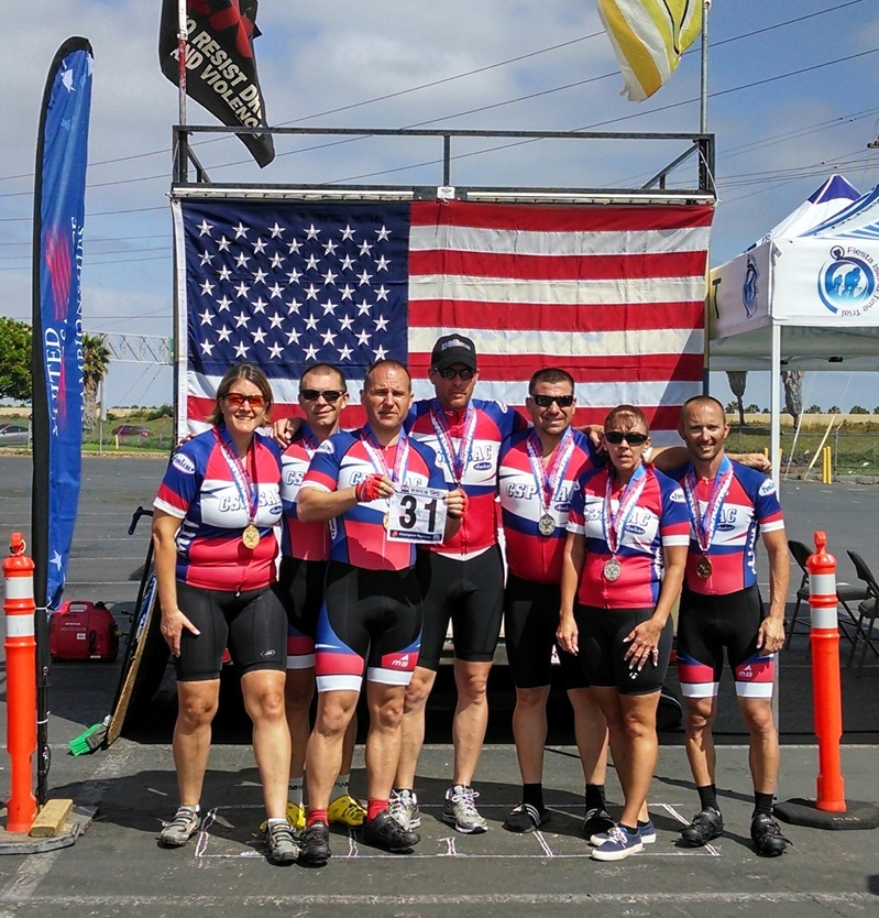 During the cycling sprint competition at the United Stated Police and Fire Championships this June our entire team made podiums…looking forward to the sprints at Fairfax2015!