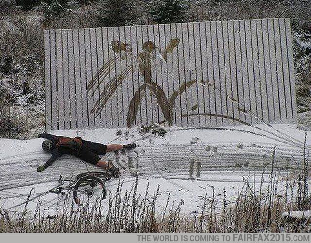 Look, I made an snow angel!