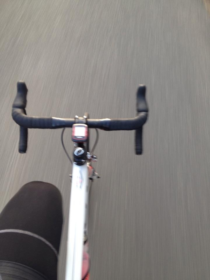 Got in a ride outside today after the temperature warmed up a bit! Riding outside always beats the indoor trainer!!