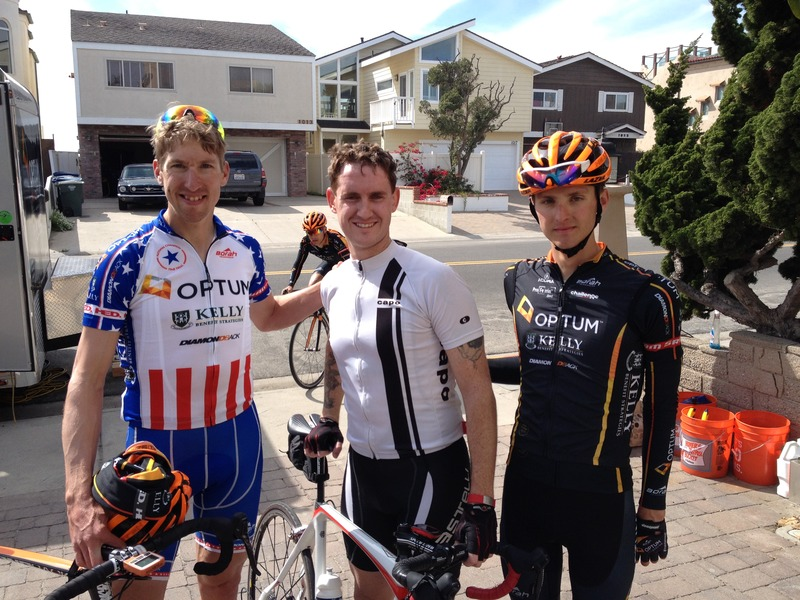 Out on my ride today in beautiful Oxnard I ran into US Time Trial Champion Tom Zirbel and the Optum Kelly Benefits Pro Cycling team. Got to finish my final 10 miles with them and get this picture afterwards!