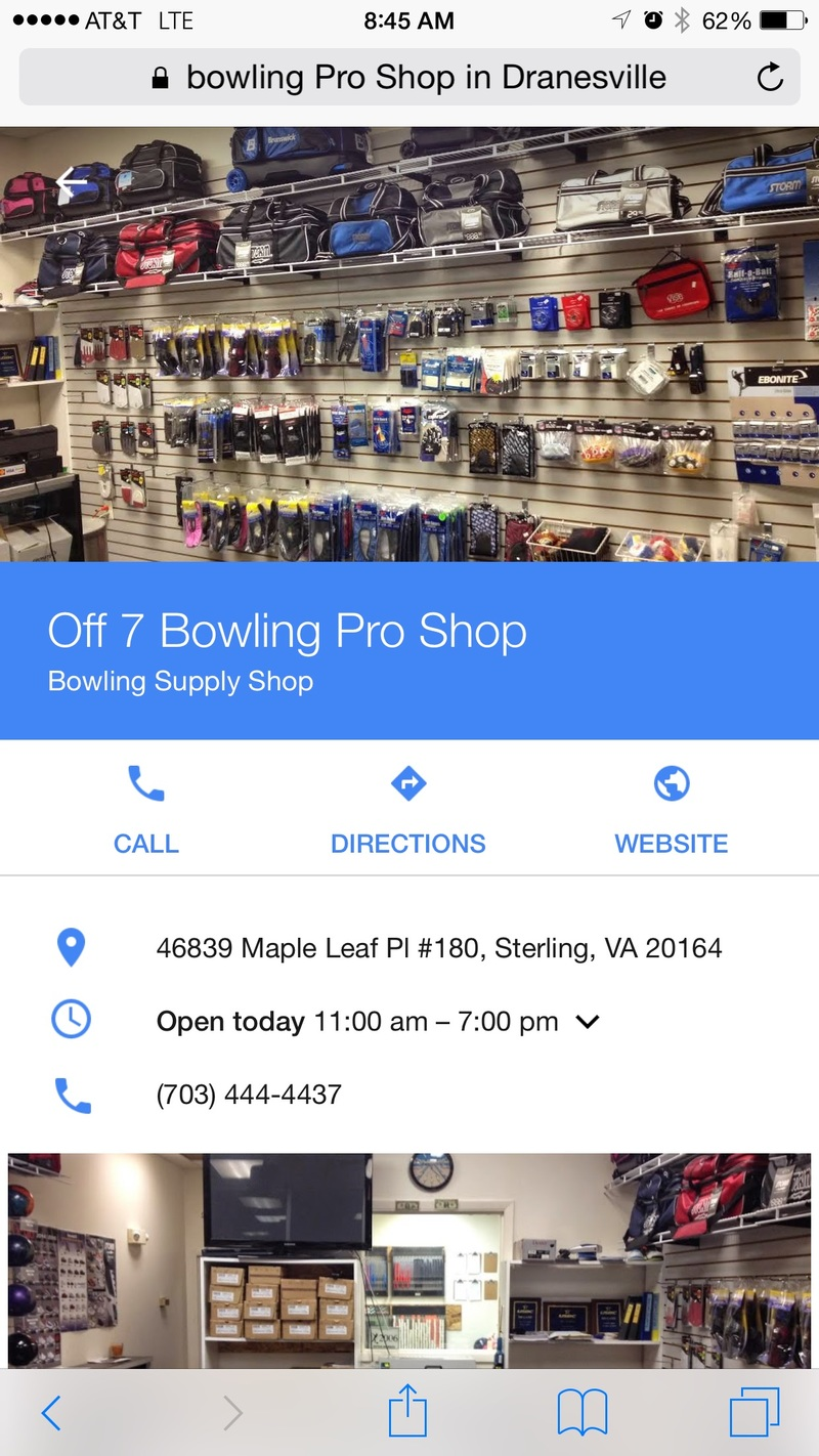 This pro shop is around the corner from the bowling venue.....ask for Gee