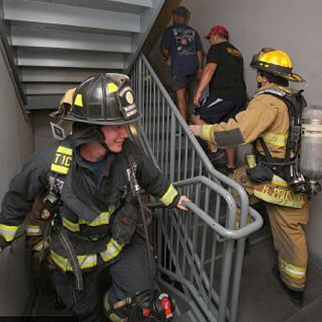 Never forget 9/11 Memorial Stair Climb in Panama City Beach Florida this past weekend. #brotherhood