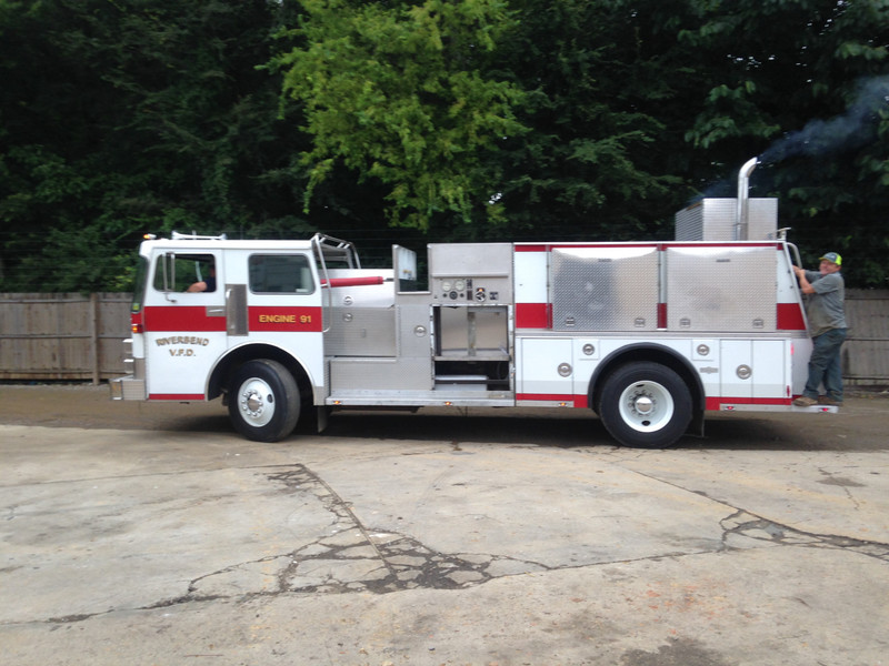 "This guy purchased an old fire truck and transformed it into an incredible custom-made mobile BBQ smoker, bar, and entertainment center. 48"" HDTVs with DirectTV, full smoker, wet bar from the tank, and more."