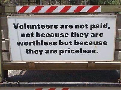 Volunteers ...