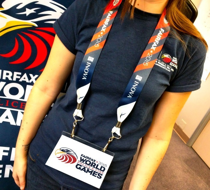 Hey Volunteers! Your credential lanyards just arrived. Based on the design of the medal ribbons. What do you think? #fairfax2015