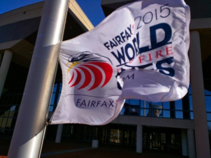 Hey Volunteers! Have you seen the Fairfax 2015 flag waving in front of the Fairfax County Government Center? What do you think?