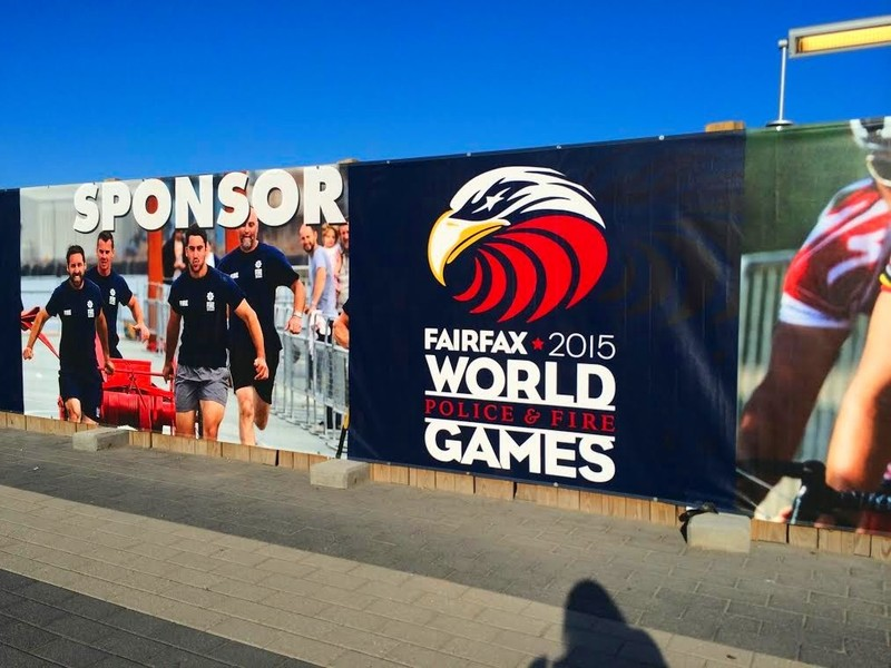 SIGNS ARE GOING UP - This one was spotted today at the Wiehle-Reston East METRO subway stop - just a short walk away from Athletes Village. What do you think? #fairfax2015