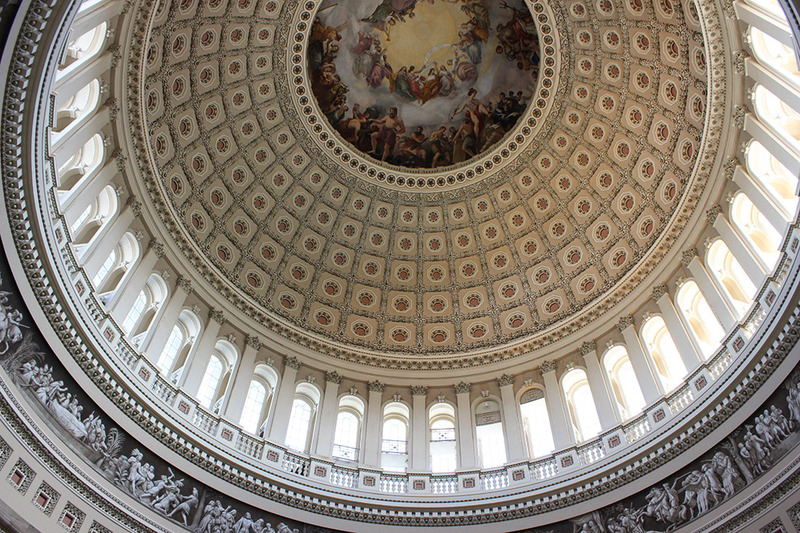 When you visit us for the Games, make sure you take a tour of the United States Capitol Building in Washington, D.C. Here is a view INSIDE the dome that you are familiar with. Many references to the old England in the mural.