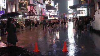 "WPFG  New York 201.  Playing "" Ice Hockey"" on Times Square"