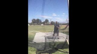Hammer throw warm up